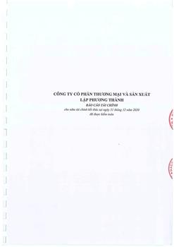 Báo cáo tài chính kiểm toán năm 2020(điều chỉnh)